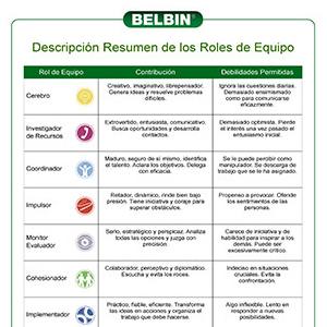 Belbin identificó nueve comportamientos diferentes (o contribuciones) que las personas muestran en el lugar de trabajo. Los llamamos los nueve Roles de Equipo Belbin.